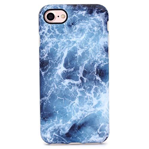 GOLINK iPhone 7 Case/iPhone 8 Case, Slim-Fit Anti-Scratch Shock Proof Anti-Finger Print Flexible TPU Gel Case for iPhone 7 /iPhone 8 - Blue Sea