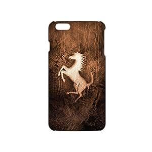 ANGLC Ferrari Brown Logo (3D)Phone Case for iphone 4 4s