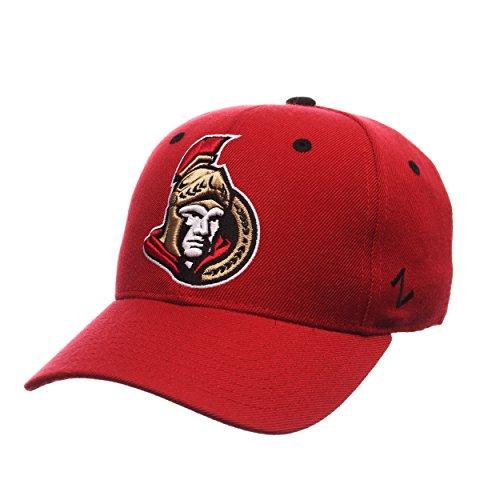 Zephyr NHL Ottawa Senators Men's Power Play Fitted Hat, Size 7 1/4, Red