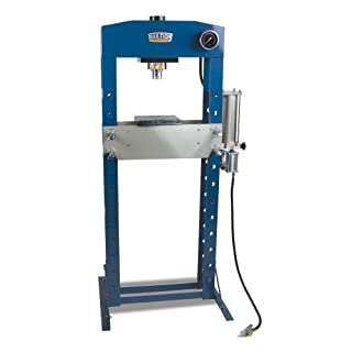 "Baileigh HSP-30A Air/Hand Operated H-Frame Shop Press, 30 Tons, 22-1/2"" Working Width"