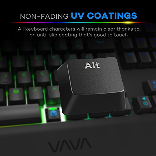 41kRXCsHbpL - VAVA-Mechanical-Keyboard-With-Blue-Switches-168-Million-RGB-Backlit-104-key-Anti-Ghost-Gaming-Keyboard-Non-Fading-UV-Coating-for-Professional-Responsiveness-Cascading-Key-Design-For-PC-Mac