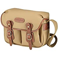 Billingham Hadley Small, Camera or Document Shoulder Bag, Canvas with Tan Leather Trim and Brass Fittings- Khaki