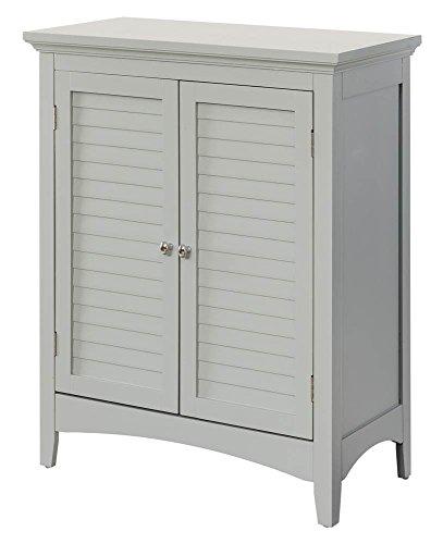 Double Door Floor Cabinet in Gray by Elegant Home Fashions