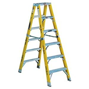 14 ft fiberglass step ladder with 375 lb load capacity stepladders. Black Bedroom Furniture Sets. Home Design Ideas