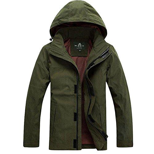 App Casual Per Con Sale15830 Invernale Giacche Army In Outdoor Green Uomo Cappuccio Giacca Design Cotone SYnqxX