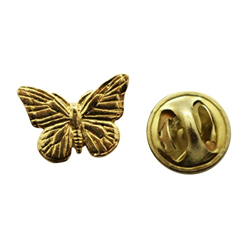 - Sarah's Treats & Treasures Monarch Butterfly Mini Pin ~ 24K Gold ~ Miniature Lapel Pin