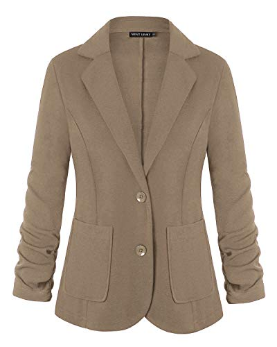 Unifizz Women Clothing RS Womens Casual Basic Work Office Cardigan Tuxedo Blazer Boyfriend Jacket Open Front XXL ()