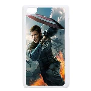 Ipod Touch 4 Captain America 2 Phone Back Case Custom Art Print Design Hard Shell Protection HG091222