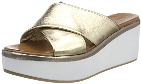 Inuovo Damen 8678 Zehentrenner Gold (Gold-Pewter)