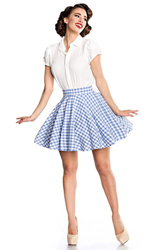 Évasé BelsiraJupe Femme blanc Small Bleu v0y8wmNnO