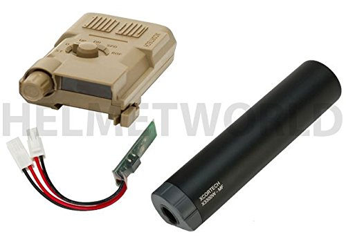 AIRSOFT XCORTECH X3300W TRACER UNIT TORCH BB'S CHRONOGRAPH MOSFET ALL IN 1 TAN @ HELMET WORLD by Xcortech