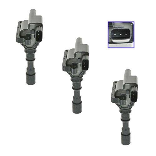 Ignition Coils Kit Set of 3 Fits Kia Sedona Hyundai XG300 XG350 3.0L 3.5L V6 (Coil Kia Sedona)