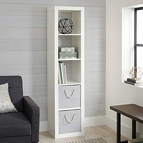 Better Homes and Gardens.. Bookshelf Square Storage Cabinet 4-Cube Organizer (Weathered) (White, 4-Cube) (White, 5-Cube Horizontal/Vertical) (Storage Cube Tower)