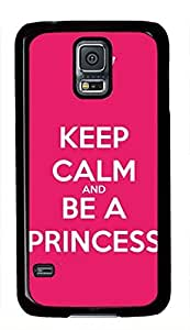 Keep Calm And Be A Princess Quote Samsung Galaxy S5 i9600 Case Kimberly Kurzendoerfer