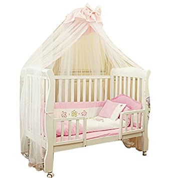 Baby Toddler Bed Crib Mosquito Netting Canopy Bowknot Dome Cot Mosquito Net Mosquito Bug Proof Mesh  sc 1 st  Amazon.com & Amazon.com : Baby Toddler Bed Crib Mosquito Netting Canopy Bowknot ...