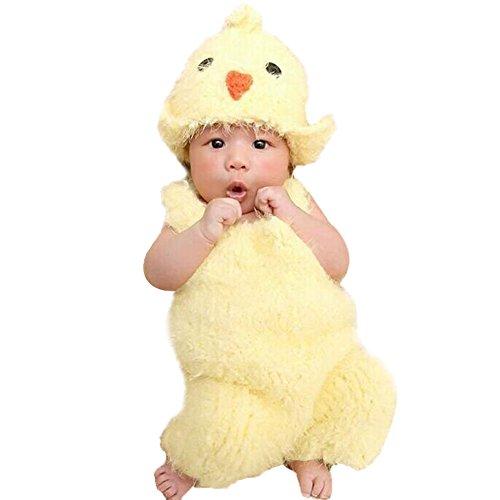 Chicken Baby Costume (Baby Photography Sweater Suit,amazingdeal Children New Born Infant European New Chicken Costume (3-4M))