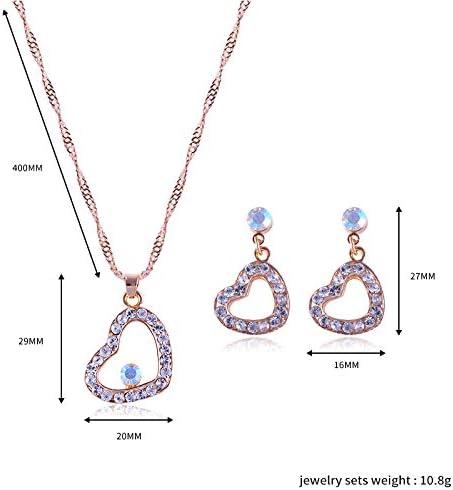Kentop Parure de bijoux pour femme avec pendentif en cristal