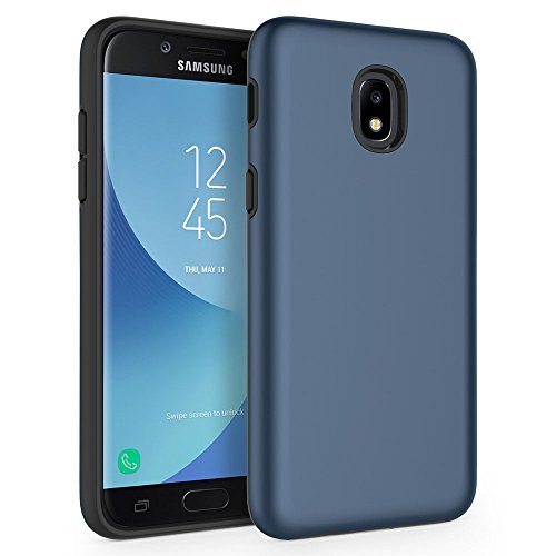 Case for Samsung Galaxy J3 2018 / J3 V 2018 / J3 Star / J3 Achieve 2018 / Galaxy Express Prime 3 / Galaxy Amp Prime 3 / Galaxy Sol 3, SYONER [Shock Absorption] Protective Phone Case Case [Blue]