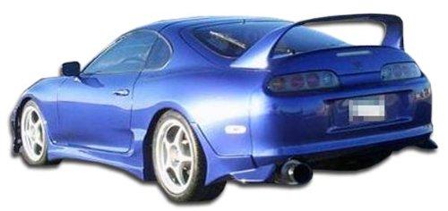Toyota Supra Bomber - 1993-1998 Toyota Supra Duraflex Bomber Rear Add On Bumper Extensions - 2 Piece