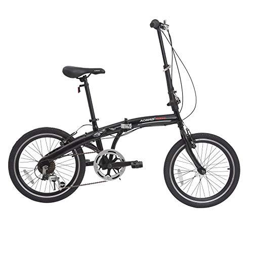 Murtisol Folding Bike 20'' Men's and Women's Bike Fast Speed 6 Speed Commuter Bike Shimano Derailleur Bicycle