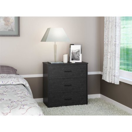 Price comparison product image Mainstays 3-Drawer Chest,  Black