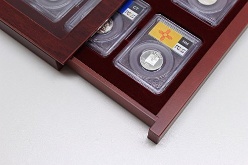Lighthouse Wood Display Showcase for 8 Certified Coin Slabs from PCGS, NGC, ANACS, etc
