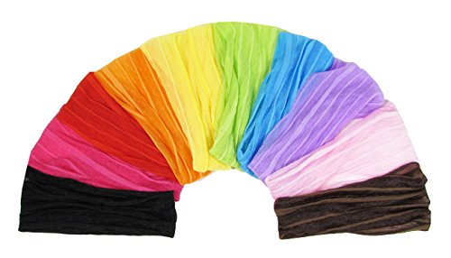 Girls Head Scarf - HipGirl 10pc Pack 7.5