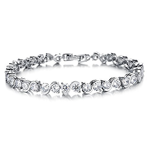 Superior Trade Fashion Jewelry AAA+ 0.58ct.SWAROVSKI Elements CZ Crystal Tennis Bracelet For Women 7.2 inch Length