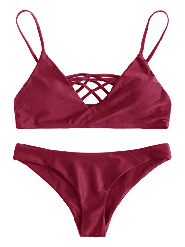 Burgundy Bikini Set in Australia - 6