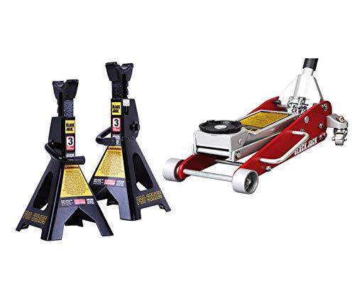 Torin Jack 2.5T Aluminum and Steel Jack Bundle 3-Ton Jack Stand Pair