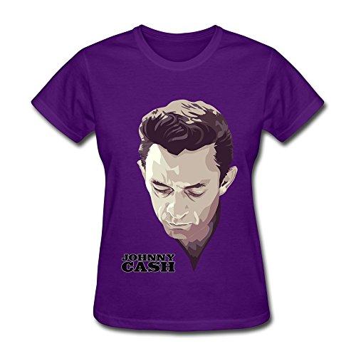 TIKE Women's Johnny Cash Sculpture Tshirts Color Purple Size - Wallet Star Wars Lego