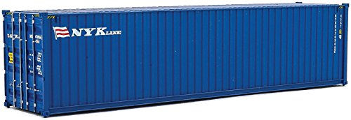 Double Stack Well Car (Walthers Trainline 40' Hi-Cube Corrugated Container Nyk Line-Assembled Train Collectable)