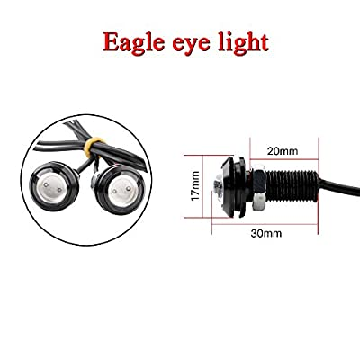 KaiDengZhe 6Pcs High Power 18mm BlueEagle Eye LED Light Bulbs 9W DRL Fog Light Daytime Running Lights Car ATV Camper Trunk Motorcycle Marker Lights Lamp Tail Reverse Fog Light: Automotive