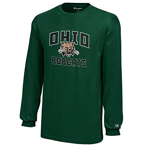 NCAA Champion Boy's Long Sleeve Jersey T-Shirt Ohio Bobcats X-Large