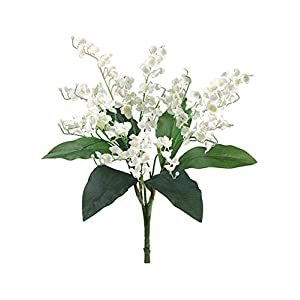1pc of Lily of The Valley Bouquet Sprays Silk Wedding Flowers Centerpieces Bridal Decor 17