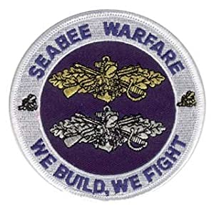 """Navy Seabee Warfare 3.5"""" Military Patch by Patches"""