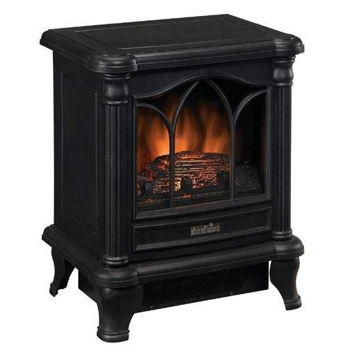 Cheap Black Freestanding Electric Stove Style Fireplace Space Heater Black Friday & Cyber Monday 2019