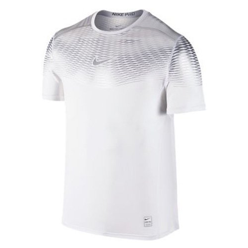 18c2bb15df5d3 Amazon.com: Nike Mens Pro Hypercool Max White 744281-101 (Small ...