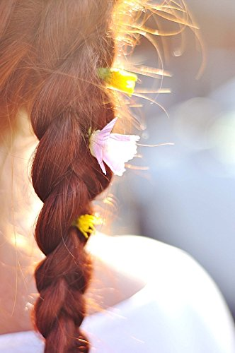 Home Comforts Peel-n-Stick Poster of Hair Summer Braid Flowers Red Poster 24X16 Adhesive Sticker Poster Print - Summer Braids
