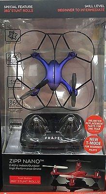 Propel-Zipp-Nano-24Ghz-IndoorOutdoor-High-Performance-Drone-360-Stunt-Rolls-Blue
