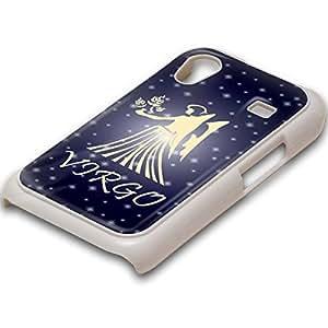 Zodíaco Virgo, Blanco PC Ultradelgado Caso Duro Carcasa Funda Protección Tapa Hard Case Cover Shell con Diseño Colorido para Samsung Galaxy Ace S5830.