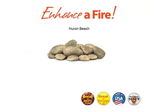 Enhance A Fire! Spattered Mixed Stones (Huron Beach)