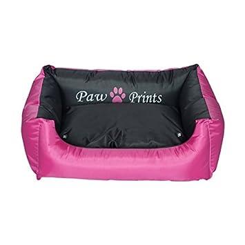 Nobleza Cama para Perros o Gatos, retangular en Color Rosa y Negro, Largo 77cm: Amazon.es: Hogar