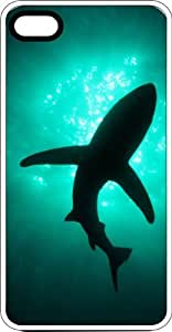 Swimming Shark Underwater White Rubber Case for Apple iPhone 5 or iPhone 5s