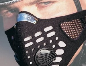 RESPRO large Pawabarubu equipment mesh specification sports model sports data mask black L by Respro