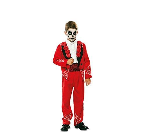 Disfraz de Novio del Día de los Muertos Rojo para niño: Amazon.es ...