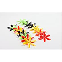 UUMART KingKong 4040 6-Blade Propellers (8CW,8CCW) Rainbow Package 4X4X6 Inch For Multicopters FPV Racer-Yellow/Black/Red/Green