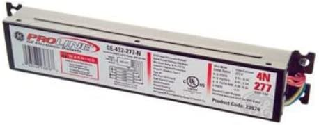 GE Lighting 78619 GE332MAX-H//ULTRA 120//277-Volt UltraMax Electronic Fluorescent T8 Multi-Volt Instant Start Ballast 3 or 2 F32T8 Lamps by GE Lighting