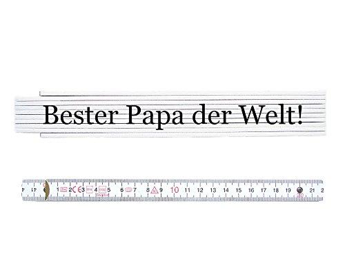 ZOLLSTOCK Spruch BESTER PAPA DER WELT *TIMELESS* Geschenk Ma/ßstab Geschenk