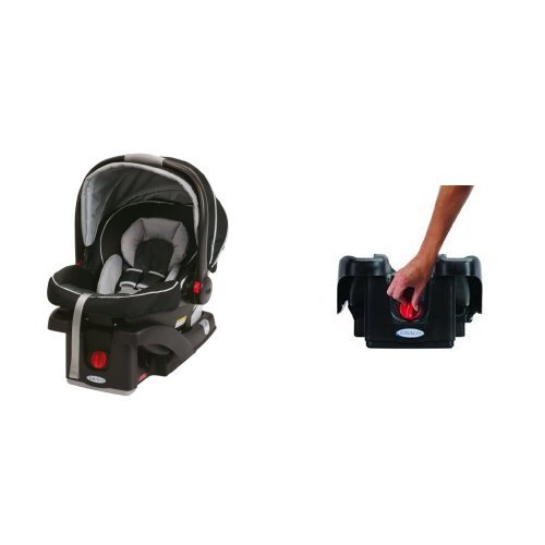 Graco SnugRide Click Connect 35 Car Seat, Gotham and SnugRide Click Connect 30/35 LX Infant Car Seat Base, Black